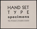 View Hand set type specimens digital asset: cover