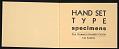 View Hand set type specimens digital asset: pages 1