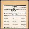 View What are Y(our) Rites?/ Holly a. & Tania e. digital asset number 1
