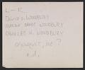 View David Oakes Woodbury, Marcia Oakes Woodbury, and Charles H. Woodbury digital asset: verso