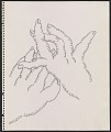 View Drawing of gesturing hands digital asset number 0