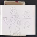 View Ray Yoshida sketchbook digital asset: page 2