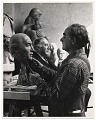 View William Zorach working on a portrait bust digital asset number 0