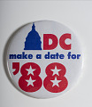 "View Pinback Button, ""DC Make a Date for '88"" digital asset number 2"