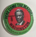 View Pinback Button, Harold Washington Mayoral Campaign digital asset number 0