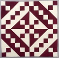 View Block Quilt with Burgundy & White Triangles digital asset number 0