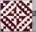 View Block Quilt with Burgundy & White Triangles digital asset number 1
