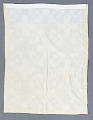 View Square Block Quilt with Tassels (Brown & White) digital asset number 2