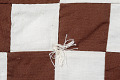 View Square Block Quilt with Tassels (Brown & White) digital asset number 5