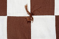 View Square Block Quilt with Tassels (Brown & White) digital asset number 6