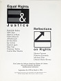 View Equal Rights and Justice: Reflections on Rights exhibition records digital asset: Equal Rights & Justice cover
