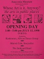View Whose Art is it, anyway? The Arts in Public Places exhibition records digital asset: Whose Art is it, Anyway? Flyer