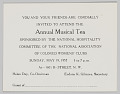 View National Association of Colored Women's Clubs Annual Musical Tea invitation digital asset number 1