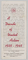 View A Decade of United Action, 1935-1945, National Council of Negro Women brochure digital asset number 2