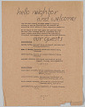 View National Council of Negro  Women flyer to welcome British war workers to America digital asset number 1