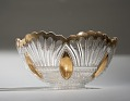 View Glass Punch Bowl with Gold Painted Trim digital asset number 0