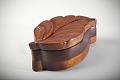 View Carved Wood Leaf-Shaped Box digital asset number 1