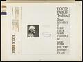 View Horton Barker, traditional singer [sound recording] digital asset number 2