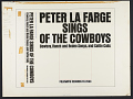 View Peter LaFarge sings of the cowboys [sound recording] : cowboy, ranch and rodeo songs, and cattle calls digital asset number 2