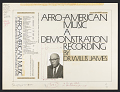 View Afro-American music [sound recording] : a demonstration recording / by Dr. Willis James digital asset number 2