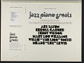 View Jazz piano greats [sound recording] : original piano solo recordings by Moses Asch / compiled by David A. Jasen digital asset number 2