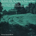 "View The sonatas for violin and piano. Vol. 2 [sound recording] : Sonata No. 3 (1902-1914) and Sonata No. 4 ""Children's Day at the Camp Meeting"" (1905-1914) / performed by Paul Zukofsky and Gilbert Kalish digital asset number 0"