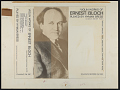 View Violin works of Ernest Bloch [sound recording] / played by Hyman Bress digital asset number 2