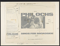 View Phil Ochs sings for Broadsides [sound recording] / produced by Paul Kaplan and Gordon [Friesen] digital asset number 0