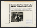 View A documentary history of broadcasting, 1920-1950 [sound recording] : radio before television #1 ; Introduction: the arts of language / edited by Patrick D. Hazard digital asset number 2
