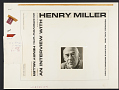View An Interview with Henry Miller [sound recording] digital asset number 2