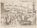 View Whale Hunt by the Emperor Claudius in the harbour at Ostia, pl. 19 in the Venationes Ferarum, Avium, Piscium series digital asset number 0