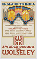 View England to India, a World Record in a Wolseley digital asset number 0