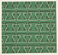 View Textile Design: Bands of Linear Triangles digital asset number 0