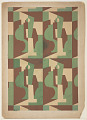 View Textile Design: Cubist Forms in Rectangles digital asset number 0
