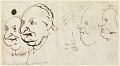 View Sketches of Four Heads in Caricature digital asset number 0