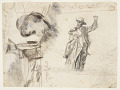 """View Two Studies of a Sailor with Raised Arm (Studies for """"The Lookout—All's Well"""" and """"The Wreck"""") digital asset number 0"""