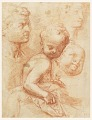 View Study of man, woman and child heads, sitting child digital asset number 0