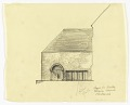 View Entrance Elevation of the Exterior of a Proposed Chapel for Trinity Church, Boston, Massachusetts digital asset number 0