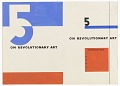 "View Design for a Book Cover, ""5 On Revolutionary Art"" digital asset number 0"