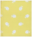 View White and Blue Fish on Chartreuse Ground, Wallpaper Design digital asset number 0