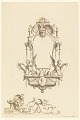 """View Design for Cartouche with Cupid, a Horse and Spears from """"Cartouches Nouvellement Inventez"""" digital asset number 0"""