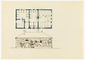 View Sauna Skizzen [Sauna Sketches (Floor Plan and Stonework Façade Elevation)] digital asset number 0