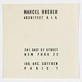 View Marcel Breuer, Architect A.I.A. digital asset number 0
