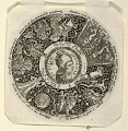 View Design for an Engraved Tazza with the Head of a Jester and a Satyr, representing Pride and Folly digital asset number 3