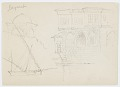 View Sketches of a Domed Structure, Ship, and Hotel digital asset number 0