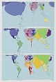 View Worldmapper Project: Global Internet Use 1990 and 2007 digital asset number 0