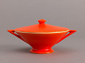 View Sugar Bowl from the Streamline Series, Mandarin Glaze digital asset number 2