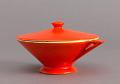 View Sugar Bowl from the Streamline Series, Mandarin Glaze digital asset number 0