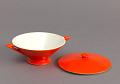 View Sugar Bowl from the Streamline Series, Mandarin Glaze digital asset number 1