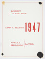 View Merry Christmas and a Happy 1947, Joella and Herbert Bayer digital asset number 1
